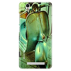 RICKYY world thirteen maps design printed matte finish back case cover for Gionee F103