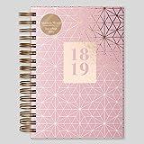 Tagebuch, Matilda Linton Myres 2018–19,Rosa und Gold, Spiralbindung, A5, Eltern A5 rose