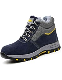 YXWa Botas para Hombres Entrenador de Seguridad a Prueba de Agua para Hombres Tama/ño : 36 Puntera de Acero Zapatos de Trabajo de Entresuela de Kevlar. s/úper Ligero Zapatos de Trabajo