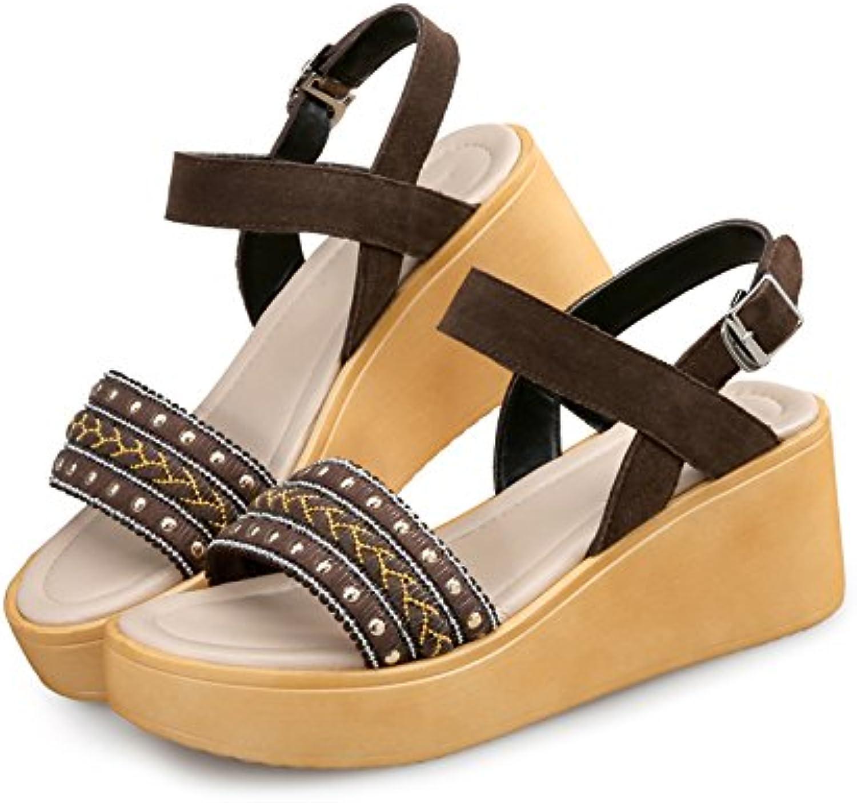 GTVERNH Nueva Roma Todos Coinciden Con Sandalias Zapatos De Suela Gruesa Sandalias De Cuña Zapatos Harajuku Viento... -