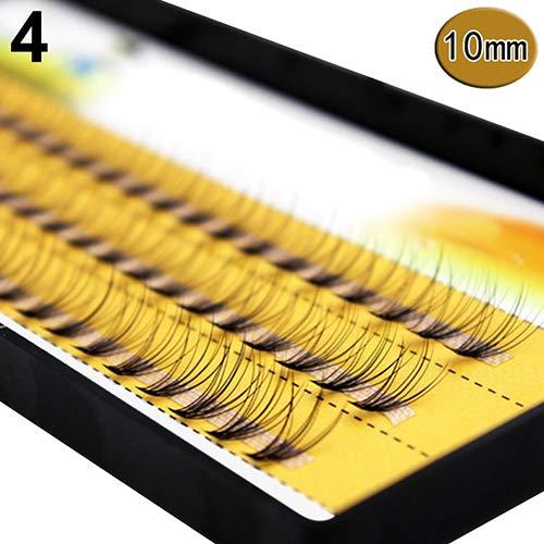 GREENLANS Frauen Falsche Wimpern Curling Pro Make-up 60 Stücke Cluster Schönheit Wimpern Pfropfen Gefälschte Falsche Wimpern 10mm (Wimpern Cluster)