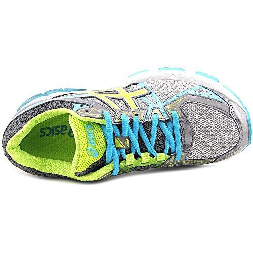 Asics GT-3000 3 Breit Maschenweite Laufschuh Charcoal/Lime/Turquoise