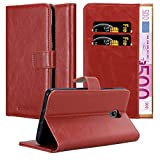 Cadorabo Book Case works with Lenovo P2 in WINE RED - with