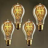Neverland Beauty 4er E27 40W A19 Vintage Edison Lampe Warmweiß