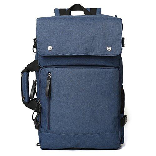 Fresion 15,6 Zoll Notebook Rucksack Herren Laptop Backpack Business Taschen Studenten Handtaschen für Arbeit Hochschule Reisen Wandern (Schwarz) Blue
