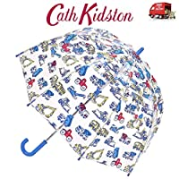 Cath Kidston Trucks & Diggers Child Dome Shape Clear Birdcage Umbrella Funbrella Childrens Boys