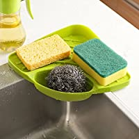 Kitchen Sink Corner Storage Rack Sponge Holder Wall Mounted Dishes drip rack Bathroom Soap Dish Wall Storage Rack Features: Brand new and high quality. Material: Plastic. Size: 19.5*27.5cm-7.6*10.8inch. Color: Light Pink, Green, Little Blue ,Coffee