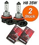 2x Stück H8 35Watt CLEAR Halogen Lampen Long Life...