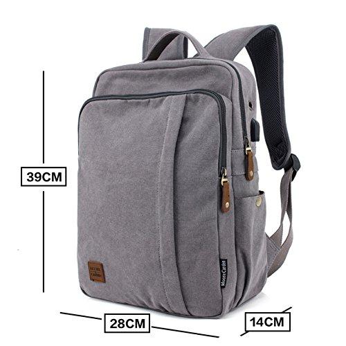 Mode-Rucksack/Herren casual Canvas Tasche/Reisetasche/Rucksack/Männlichen High-School-Schüler Schulranzen-A A