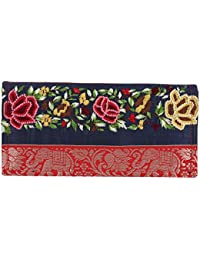 Litercay India Indha Hand Embroidery Work Girls/Womens Ethnic Clutch Purse/Stash Pouch
