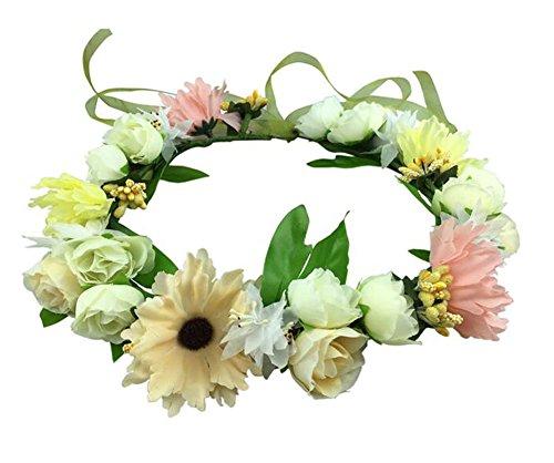 Festival des fleurs de mariage cheveux Couronne de fleurs Bandeau de femmes