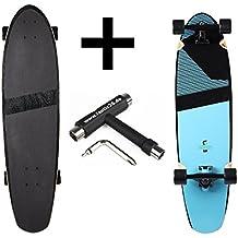 'RAM Longboard S/S15blacker Kick Tail Cruiser 3691,5cm x 24,8cm infinity Blue + Fan tic26Skate Tool