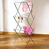 3 Tier 14M Concertina Clothes Airer Laundry Clothing Indoor Free Standing Drier