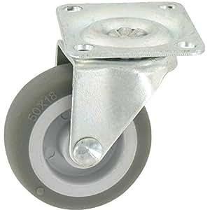 Roulette Miniroll pivotante à platine D 50 - Caujolle