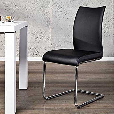 "ELEGANT CANTILEVER CHAIR ""BALANCED"" for office dining room or kitchen from Xtradefactory black produced by XTRADEFACTORY GMBH - quick delivery from UK."