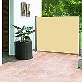 Greenbay Sichtschutz, 160cm, für Garten/Terrasse/Balkon, Seitenmarkise, Sonnenschutz, erweiterbar, Sandfarben