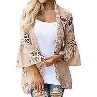 Geili Frauen Chiffon-Spitze Blumen Öffnen Sie Cape Tops Casual Mantel Lose Bluse Kimono Jacke Cardigan preisvergleich bei billige-tabletten.eu