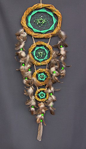 handgefertigt-multicolor-dream-catcher-acryl-garn-federn-holz-perlen-nieren-amulett-indischen-talism