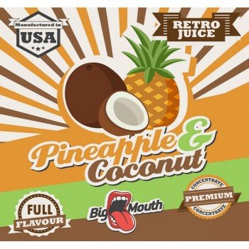Big Mouth Aroma Retro Juice Pineapple Coconuts 10ml von Big Mouth