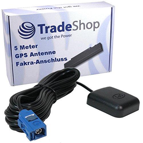 Magnetische GPS-Antenne mit Fakra-Anschluss Stecker 5 Meter Kabel Adapter Magnetfuß für AUDI RNS-E / Mini / BNS low line A3, A4, A6, TT, R8 / MMI DVD 2G, 3G / MMI A6, A8, A4, A5, Q5 / A1 A3 / MFD2 MFD3 -