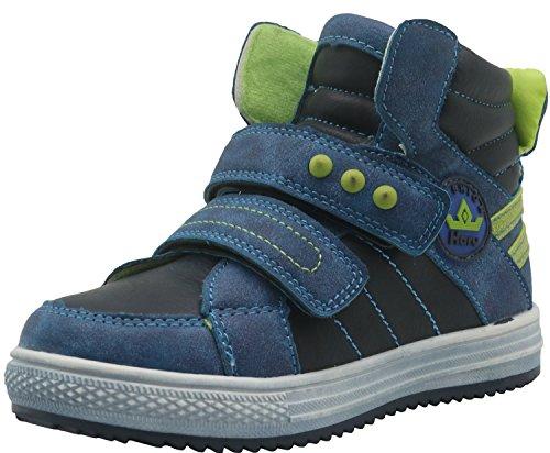 Shengjuanfeng Kinderschuhe Jungen Stiefel Kausale Turnschuhe Jungen Stiefel (Color : Navy/R.Blue, Size : 12 M US Little Kid) (Kid Sandalen Navy)