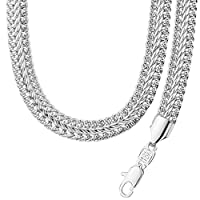 New 18K Platinum Plated Bracelet Necklace Set Style Hip Hop Big Heavy Cool Style Chain Men's Jewelry NB60051-w
