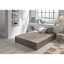 HOGAR24 ES Canapé Abatible de Madera de Gran Capacidad Tapa 3D Transpirable, Color Blanco Vintage