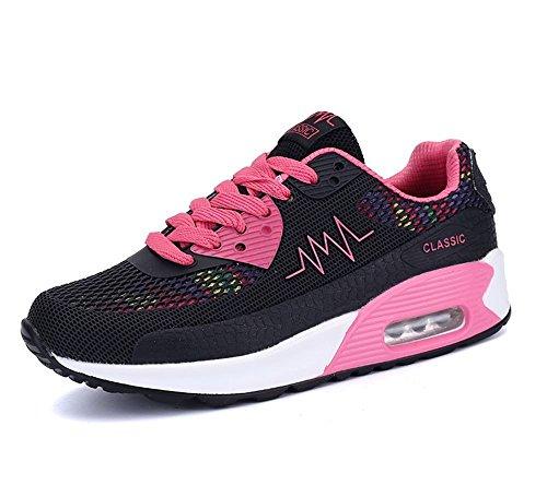 SITAILE Femme De Course Baskets Athlétique Fitness Gym Chaussures Sport Multisports outdoor mixte adulte(Vendu par ZADA FENG SHOP) Noir