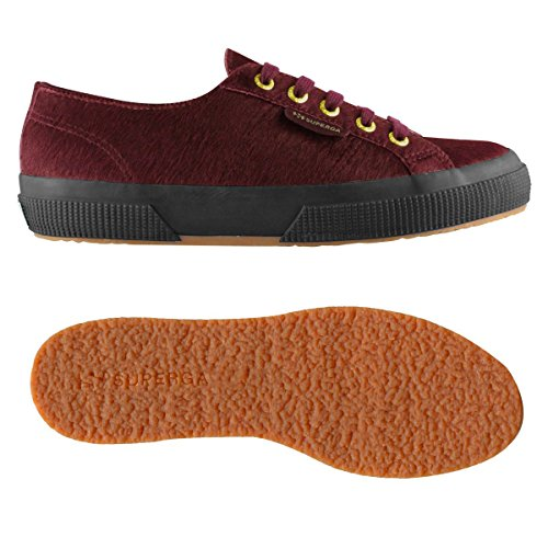 Superga 2750-Leahorsew, Baskets mode femme Bordeaux