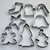 from Angraves Set of 8 Christmas Cookie Cutters - Star Tree Angel Bell Stocking & More