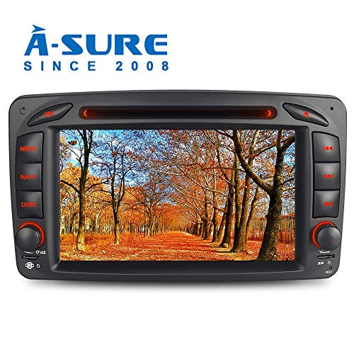 A-SURE 7 DVD GPS Autoradio für Mercedes Benz C-Class W203 S203 CLK-Class W209 C209 W639 Viano & Vito G-Class W463 Unterstützt Bluetooth DAB, USB, Micro SD, AUX, CD Wechsler, RDS Mirrorlink BCOQ-ZT