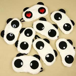 Masque de sommeil (2 pièces pour Elle et Lui) cute Panda Couverture des yeux