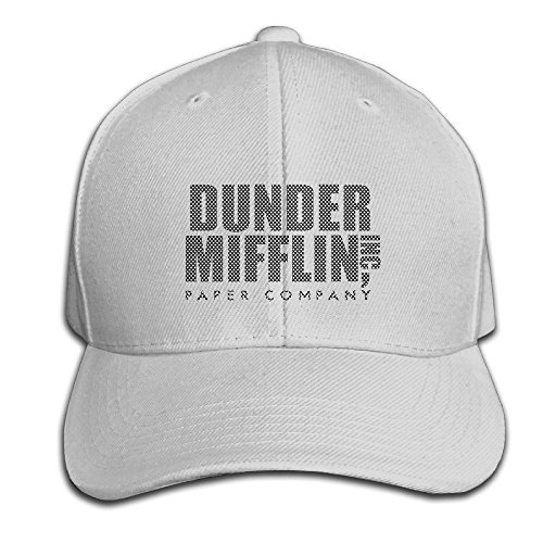 hittings-cotton-dunder-mifflin-paper-inc-solid-cap-snapback-hats-baseball-caps-for-unisex-adult-ash