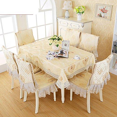 8350 Cover (LOVE European-style Tischdecken,Stoff Tabelle Tuch Polster Sitzbezüge Set,Pastorale Lace Cover,Couchtisch Stoff Tischdecke-Q 110x160cm(43x63inch))