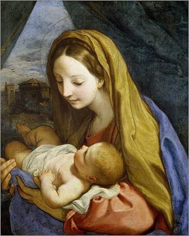 Alu Dibond 100 x 120 cm: Maria mit dem Kind von Carlo Maratta / ARTOTHEK