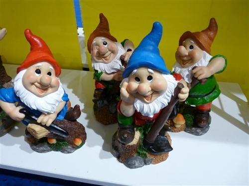 4 Gartenzwerg Figuren 27cm Gnome Zwerg - 2