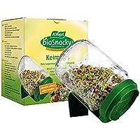 A.Vogel Un vaso de germinador de biosnacky con tapa (paquete de 2 tarros)
