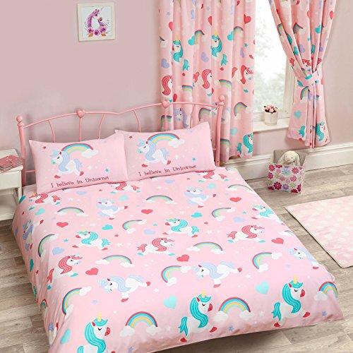 Juego funda edredón funda almohada diseño unicornios