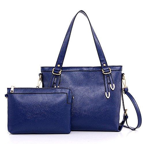 Mefly Nuova Donna Elegante Borsetta Tracolla Singola Croce Obliqua Borsa Beige blue