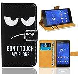 Sony Xperia Z3 Compact Handy Tasche, FoneExpert Wallet Case Flip Cover Hüllen Etui Ledertasche Lederhülle Premium Schutzhülle für Sony Xperia Z3 Compact