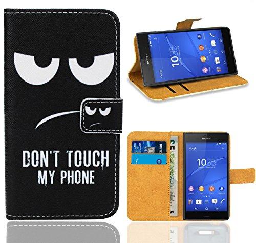 Preisvergleich Produktbild Sony Xperia Z3 Handy Tasche,  FoneExpert Wallet Case Flip Cover Hüllen Etui Ledertasche Lederhülle Premium Schutzhülle für Sony Xperia Z3