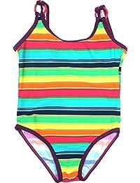 Step In Mädchen Badeanzug Multicolor-Streifen, 9917