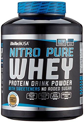 Vanille Pur Gesund (Biotech USA Nitro Pure Whey Bourbon-Vanille, 1er Pack (1 x 2.27 kg))
