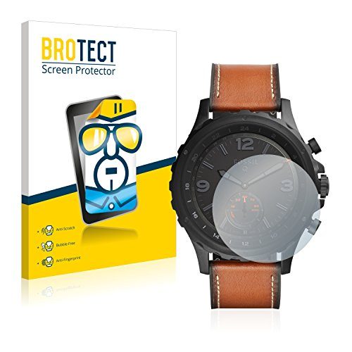BROTECT Schutzfolie kompatibel mit Fossil Q Nate [2er Pack] - klarer Bildschirmschutz