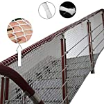FDGBCF 2cm Grid Stair Balcony Safety Net Stair Case Protection Kids Toddler Safe Deck Rail Guard Roving Banister Plant Cover