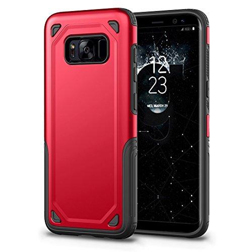 HHF Cases & Covers Für Samsung Galaxy S8 Stoßfest Robuste Rüstung Schutzhülle (Color : Red) -