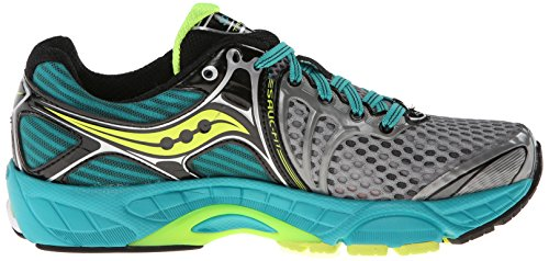 Saucony Women's Triumph 11 Running Shoe Grey/Teal/Citron