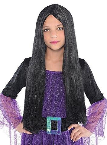 Noir Sorcière Perruque - Perruque enfant -