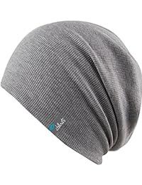 dünnere leichte Beanie Mütze ca. 2-3mm Stoffdicke - unisex Slouch