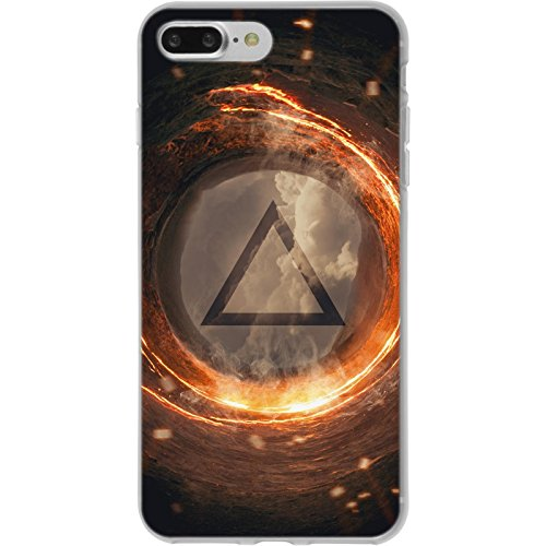 PhoneNatic Apple iPhone 8 Plus Custodia in Silicone elemento terra M2 Case iPhone 8 Plus + pellicola protettiva Disign:03